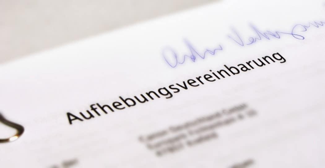 Aufhebungsvertrag Unterschreiben Ja Oder Nein Pöppel Rechtsanwälte