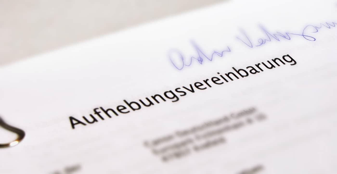 Der Aufhebungsvertrag Worauf Müssen Arbeitgeber Achten