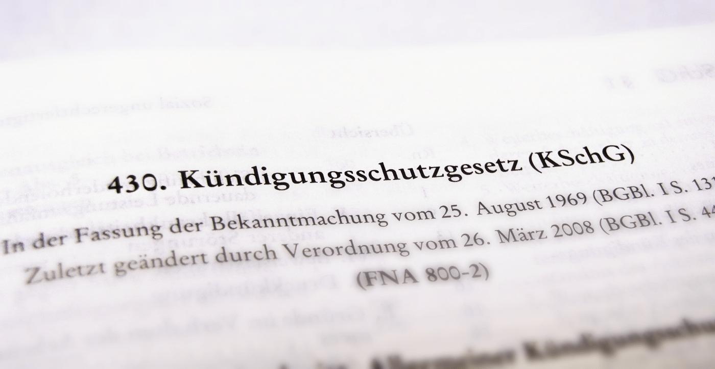 Das Kündigungsschutzgesetz